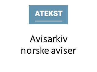 Atekst - avisarkiv norske aviser