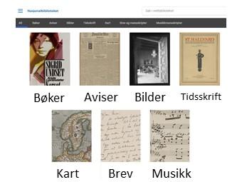 Nettbiblioteket - Nasjonalbiblioteket sin samling av bøker, aviser, bilder, tidsskrifter, kart, brev og musikk