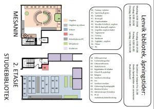Mesanin og 2. etasje (Studiebiblioteket) på Lenvik bibliotek